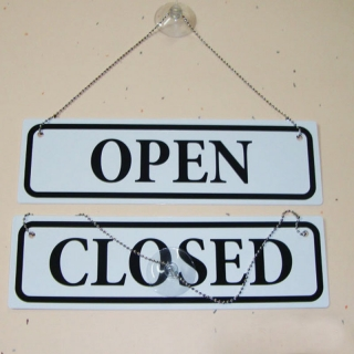 cedulka OPEN/CLOSED